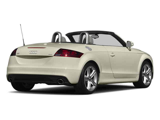 Glacier White Metallic/Black Roof 2014 Audi TT Pictures TT Roadster 2D AWD photos rear view