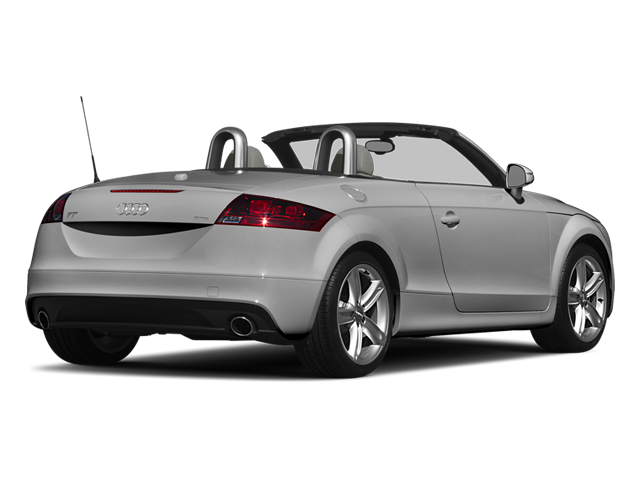 Ice Silver Metallic/Black Roof 2014 Audi TT Pictures TT Roadster 2D AWD photos rear view