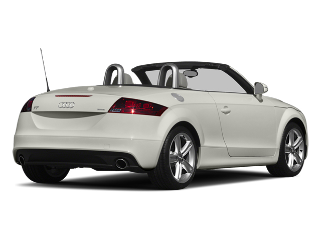 Ibis White/Black Roof 2014 Audi TT Pictures TT Roadster 2D AWD photos rear view