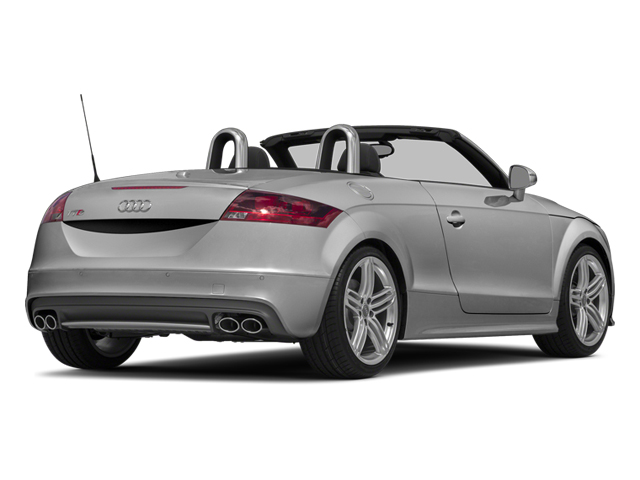 Ice Silver Metallic/Black Roof 2014 Audi TTS Pictures TTS Roadster 2D AWD photos rear view