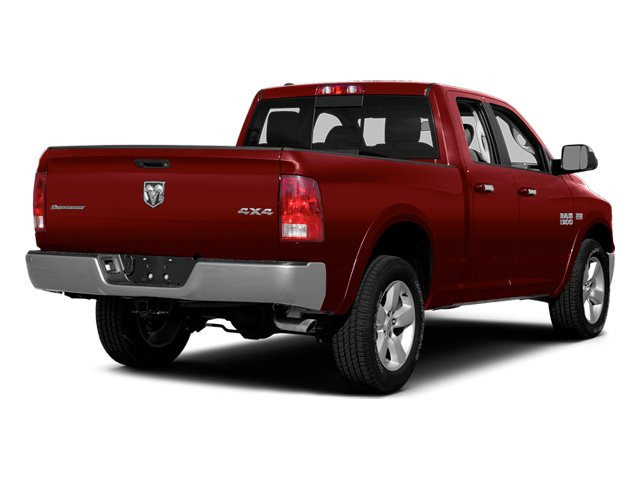 Deep Cherry Red Crystal Pearlcoat 2014 Ram Truck 1500 Pictures 1500 Quad Cab Outdoorsman 4WD photos rear view