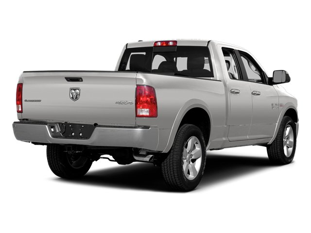 Bright Silver Metallic Clearcoat 2014 Ram Truck 1500 Pictures 1500 Quad Cab Outdoorsman 4WD photos rear view