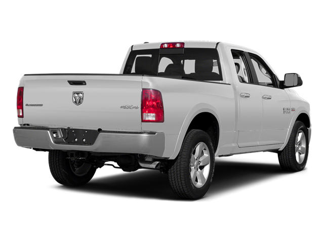 Bright White Clearcoat 2014 Ram Truck 1500 Pictures 1500 Quad Cab Outdoorsman 4WD photos rear view