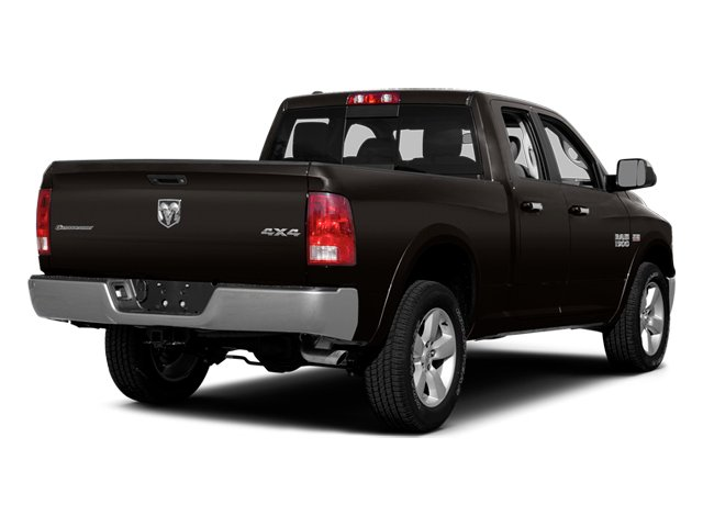 Black Clearcoat 2014 Ram Truck 1500 Pictures 1500 Quad Cab Outdoorsman 4WD photos rear view