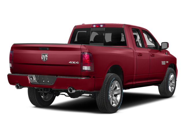 Deep Cherry Red Crystal Pearlcoat 2014 Ram Truck 1500 Pictures 1500 Quad Cab Sport 2WD photos rear view