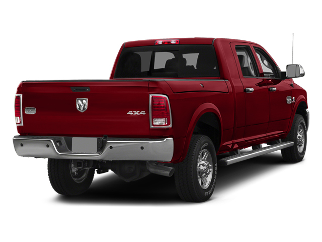 Flame Red Clearcoat 2014 Ram Truck 2500 Pictures 2500 Mega Cab Laramie 4WD photos rear view