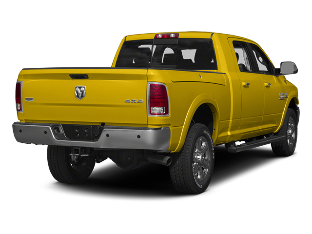 Yellow 2014 Ram Truck 3500 Pictures 3500 Mega Cab SLT 2WD photos rear view