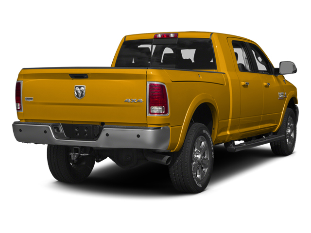 Construction Yellow 2014 Ram Truck 3500 Pictures 3500 Mega Cab SLT 2WD photos rear view