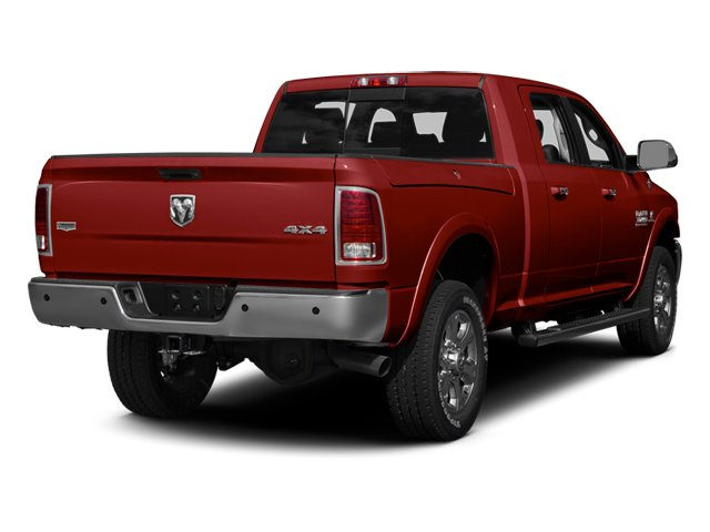 Flame Red Clearcoat 2014 Ram Truck 3500 Pictures 3500 Mega Cab SLT 2WD photos rear view