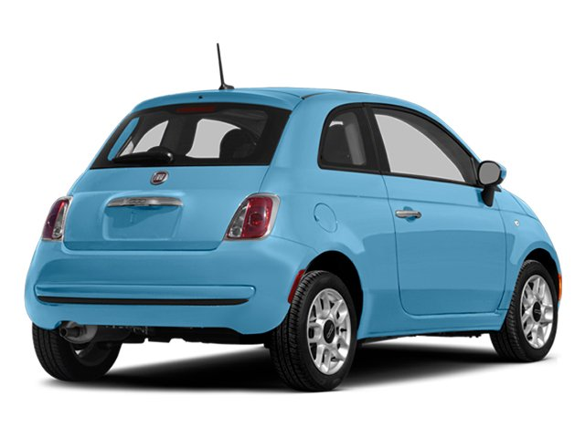 Luce Blu (Light Blue) 2014 FIAT 500 Pictures 500 Hatchback 3D Sport I4 photos rear view