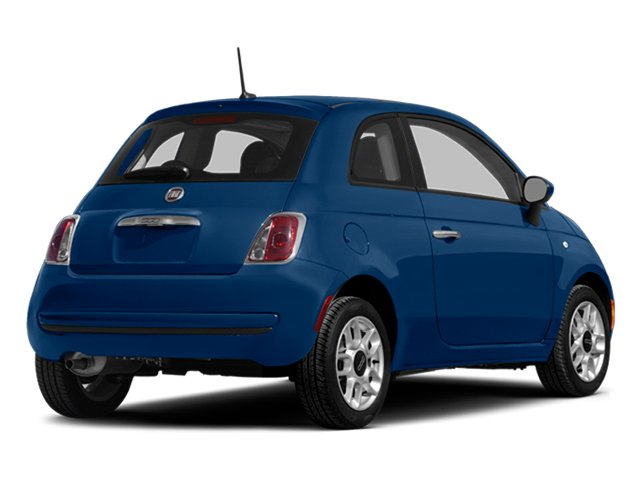 Azzurro (Blue) 2014 FIAT 500 Pictures 500 Hatchback 3D Sport I4 photos rear view