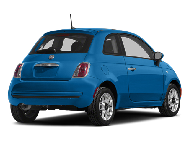 Verde Azzurro (Blue-Green) 2014 FIAT 500 Pictures 500 Hatchback 3D Sport I4 photos rear view