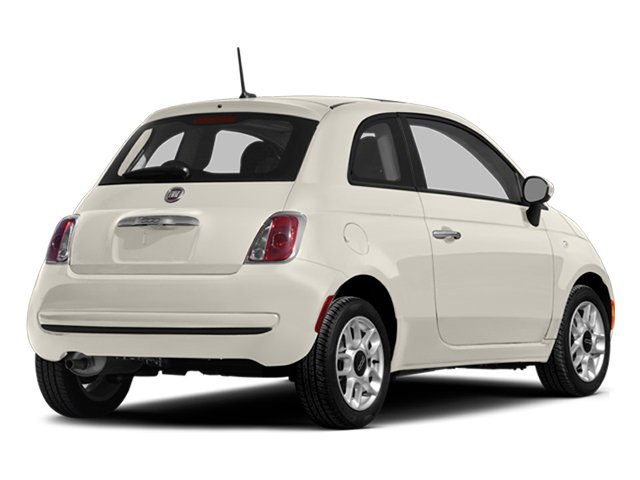 Bianco (White) 2014 FIAT 500 Pictures 500 Hatchback 3D Sport I4 photos rear view