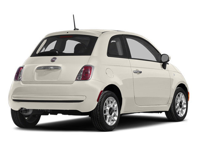 Bianco Perla (Pearl White Tri-Coat) 2014 FIAT 500 Pictures 500 Hatchback 3D Lounge I4 photos rear view