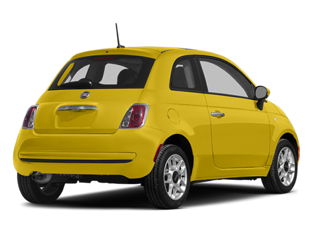 Giallo (Yellow) 2014 FIAT 500 Pictures 500 Hatchback 3D Sport I4 photos rear view