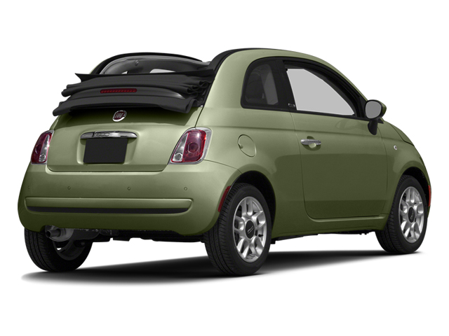 Verde Oliva (Olive Green) 2014 FIAT 500c Pictures 500c Convertible 2D Lounge I4 photos rear view
