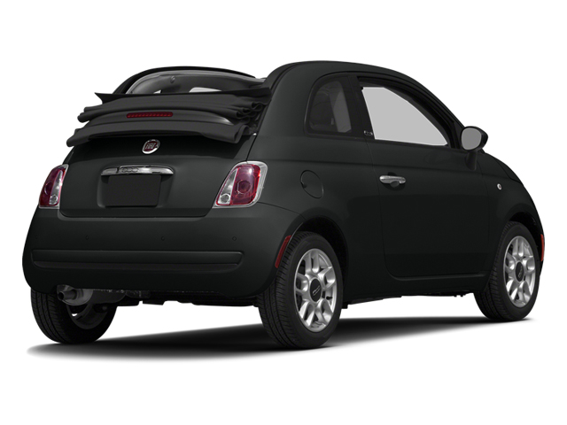 Nero Puro (Straight Black) 2014 FIAT 500c Pictures 500c Convertible 2D Lounge I4 photos rear view