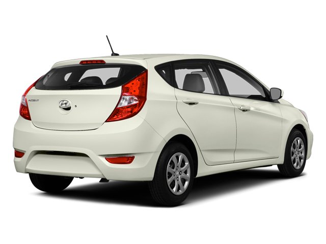 Century White 2014 Hyundai Accent Pictures Accent Hatchback 5D GS I4 photos rear view