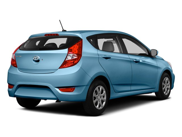 Clearwater Blue Metallic 2014 Hyundai Accent Pictures Accent Hatchback 5D GS I4 photos rear view