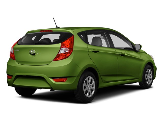 Electrolyte Green Pearl 2014 Hyundai Accent Pictures Accent Hatchback 5D GS I4 photos rear view