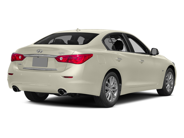 Moonlight White 2014 INFINITI Q50 Pictures Q50 Sedan 4D Premium V6 photos rear view