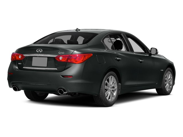 Graphite Shadow 2014 INFINITI Q50 Pictures Q50 Sedan 4D Premium V6 Hybrid photos rear view