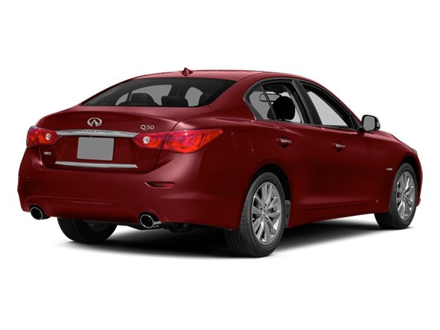 Venetian Ruby 2014 INFINITI Q50 Pictures Q50 Sedan 4D Premium V6 Hybrid photos rear view