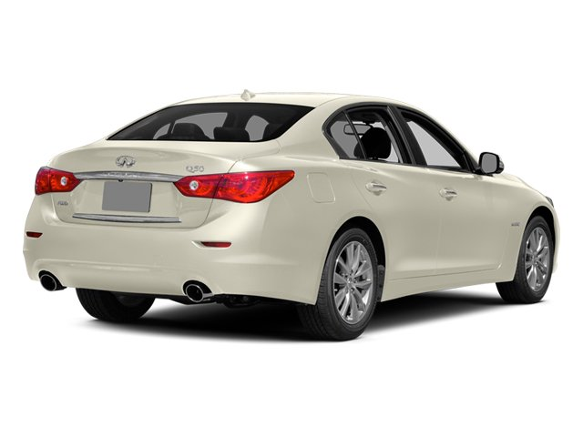 Moonlight White 2014 INFINITI Q50 Pictures Q50 Sedan 4D Premium V6 Hybrid photos rear view