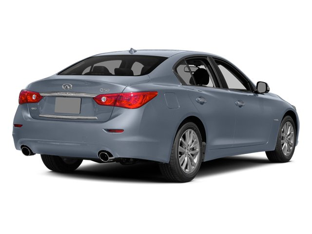 Hagane Blue 2014 INFINITI Q50 Pictures Q50 Sedan 4D Premium AWD V6 Hybrid photos rear view