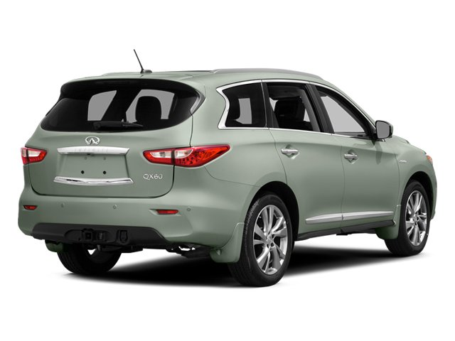 Glacial Silver 2014 INFINITI QX60 Pictures QX60 Utility 4D Hybrid 2WD I4 photos rear view