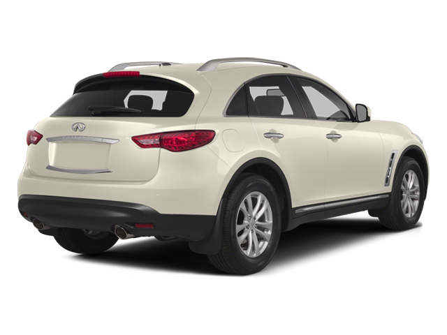 Moonlight White 2014 INFINITI QX70 Pictures QX70 Utility 4D 2WD V6 photos rear view