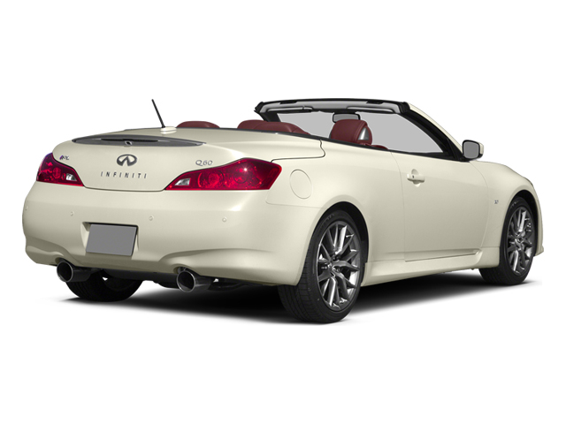 Moonlight White 2014 INFINITI Q60 Convertible Pictures Q60 Convertible Convertible 2D IPL V6 photos rear view