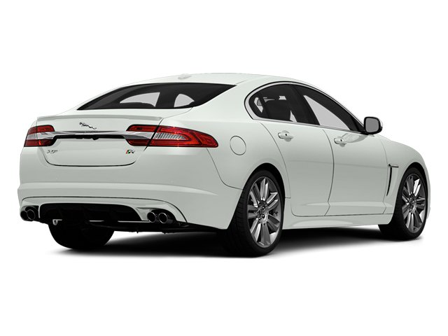 Polaris White 2014 Jaguar XF Pictures XF Sedan 4D XFR-S V8 Supercharged photos rear view