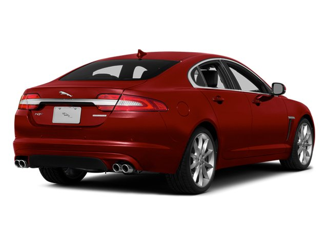 Italian Racing Red 2014 Jaguar XF Pictures XF Sedan 4D V6 Supercharged photos rear view