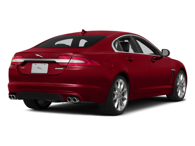 Italian Racing Red 2014 Jaguar XF Pictures XF Sedan 4D AWD V6 Supercharged photos rear view
