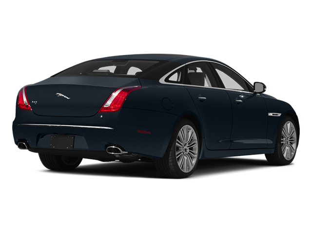Dark Sapphire Metallic 2014 Jaguar XJ Pictures XJ Sedan 4D L XJR V8 Supercharged photos rear view