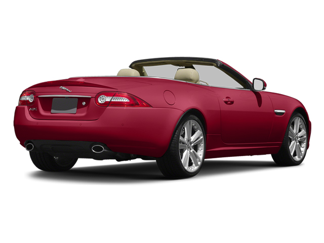 Carnelian Red Metallic 2014 Jaguar XK Pictures XK Convertible 2D V8 photos rear view