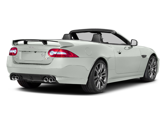 Polaris White 2014 Jaguar XK Pictures XK Convertible 2D XKR-S V8 Supercharged photos rear view