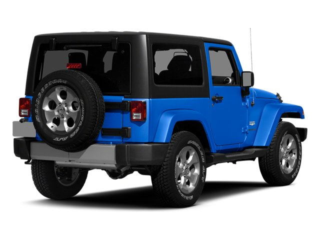 Hydro Blue Pearl Coat 2014 Jeep Wrangler Pictures Wrangler Utility 2D Altitude 4WD V6 photos rear view