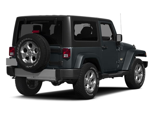 Anvil Clear Coat 2014 Jeep Wrangler Pictures Wrangler Utility 2D Rubicon 4WD V6 photos rear view