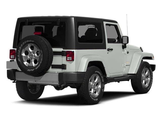 Bright White Clearcoat 2014 Jeep Wrangler Pictures Wrangler Utility 2D Rubicon 4WD V6 photos rear view