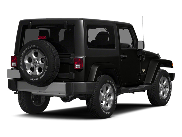 Black Clearcoat 2014 Jeep Wrangler Pictures Wrangler Utility 2D Altitude 4WD V6 photos rear view