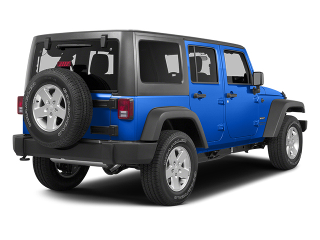 Hydro Blue Pearl Coat 2014 Jeep Wrangler Unlimited Pictures Wrangler Unlimited Utility 4D Unlimited Sahara 4WD V6 photos rear view