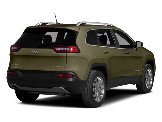 Eco Green Pearlcoat 2014 Jeep Cherokee Pictures Cherokee Utility 4D Limited 4WD photos rear view