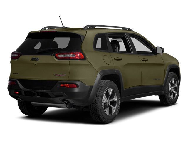 Eco Green Pearlcoat 2014 Jeep Cherokee Pictures Cherokee Utility 4D Trailhawk 4WD photos rear view