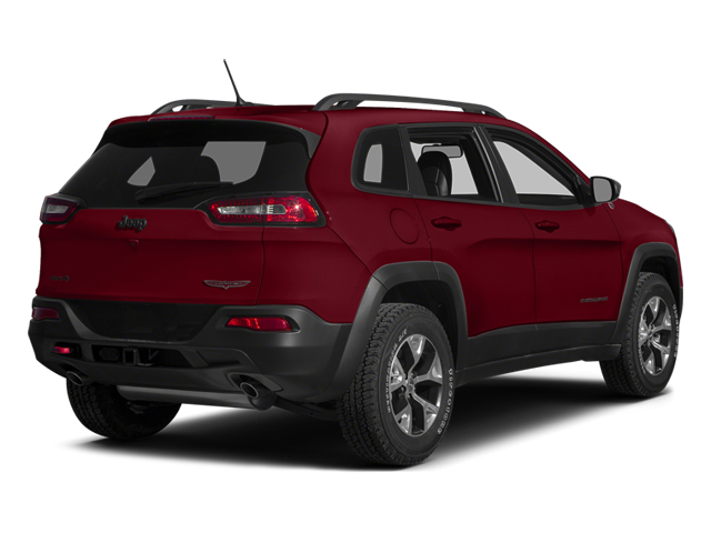 Deep Cherry Red Crystal Pearlcoat 2014 Jeep Cherokee Pictures Cherokee Utility 4D Trailhawk 4WD photos rear view
