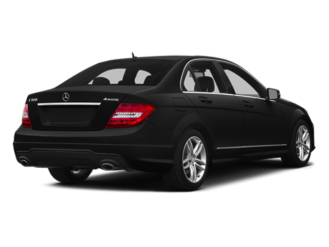 Obsidian Black Metallic 2014 Mercedes-Benz C-Class Pictures C-Class Sedan 4D C300 AWD photos rear view
