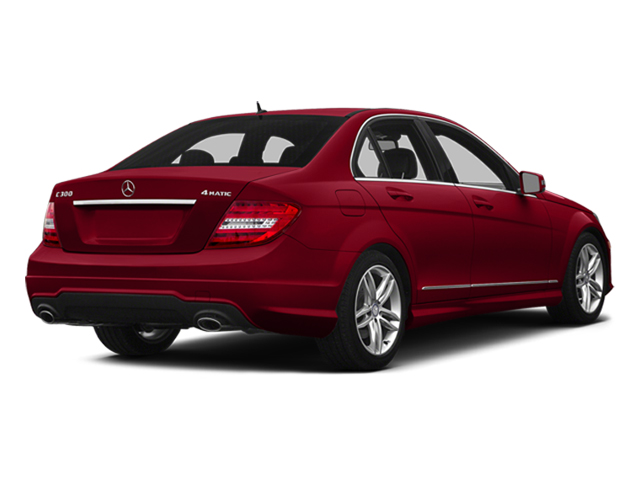 Mars Red 2014 Mercedes-Benz C-Class Pictures C-Class Sedan 4D C300 AWD photos rear view