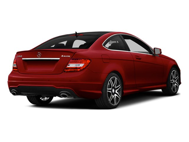 Mars Red 2014 Mercedes-Benz C-Class Pictures C-Class Coupe 2D C350 V6 photos rear view
