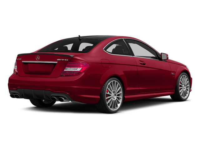 Mars Red 2014 Mercedes-Benz C-Class Pictures C-Class Coupe 2D C63 AMG V8 photos rear view